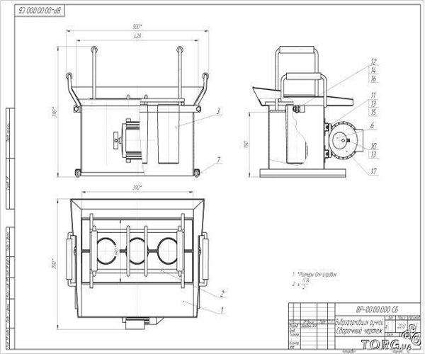 чертеж станка для шлакоблока
