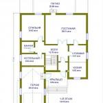 дом №2 из керамзитоблока как выглядит схема первого этажа
