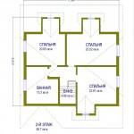 дом №2 из керамзитоблока как выглядит схема второго этажа