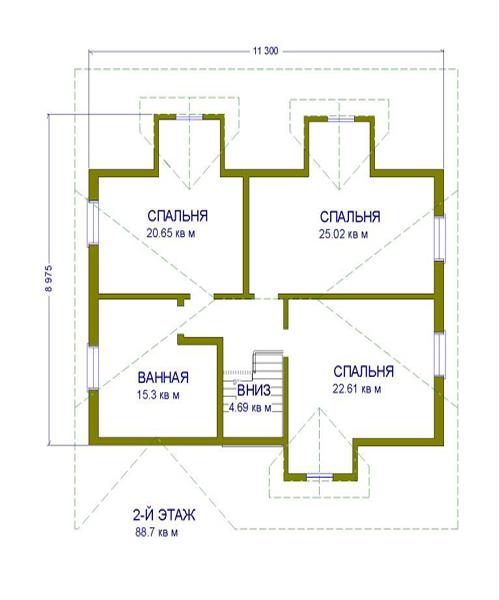 дом №2 из керамзитоблока схема