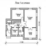 дом №4 из керамзитоблока как выглядит схема первого этажа