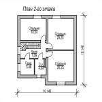 дом №4 из керамзитоблока как выглядит схема второго этажа