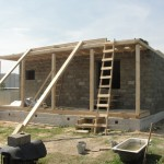 дом построенный из арболита №1
