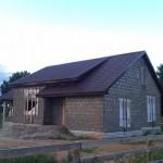 дом построенный из арболита №2
