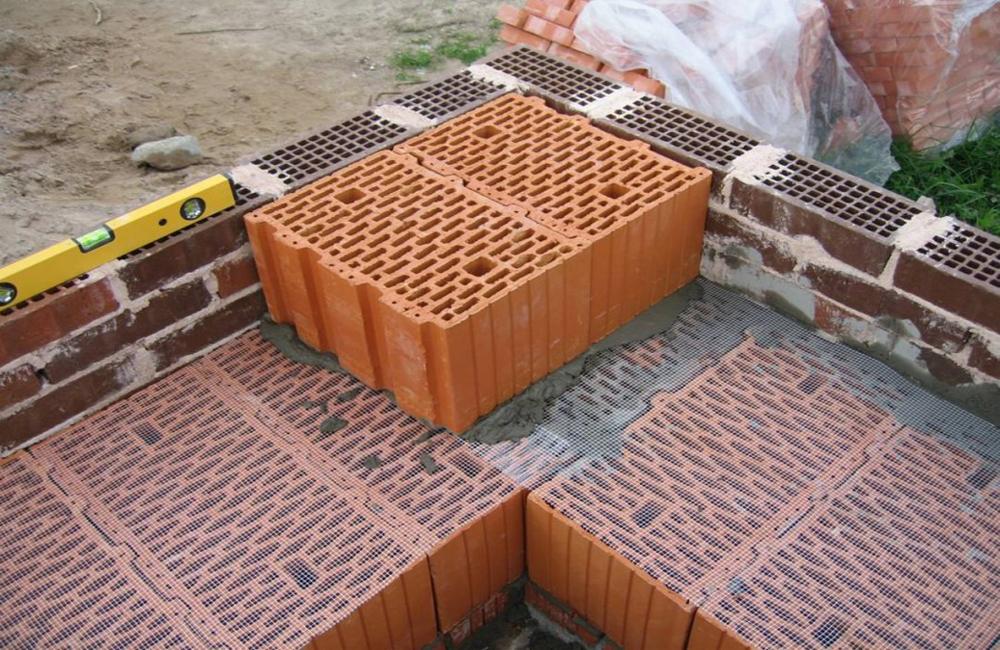 кладки керамических блоков