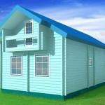 готовый дом из керамзитоблока по проекту №2 внешний вид
