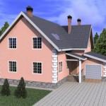 готовый дом из керамзитоблока по проекту №3 внешний вид