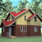 готовый дом из керамзитоблока по проекту №4 внешний вид