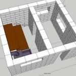 компьютерный проект бани из газоблоков