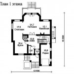 проект 1 дома из керамзитоблока как выглядит схема первого этажа