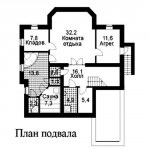 проект 1 дома из керамзитоблока как выглядит схема подвала