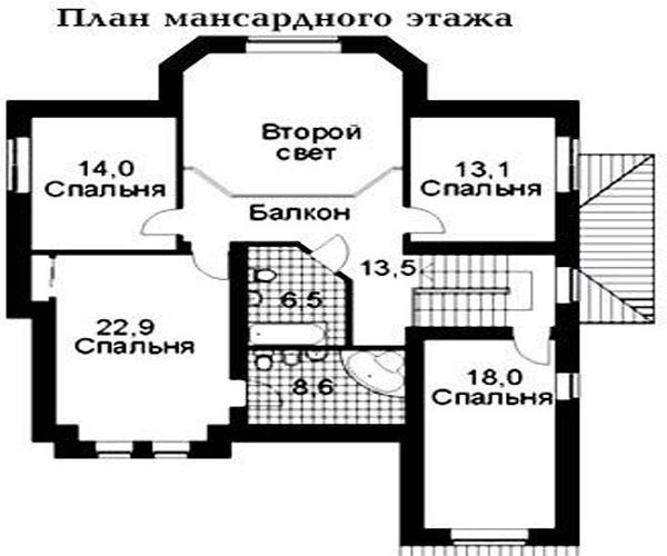 дом №1 из керамзитоблока: