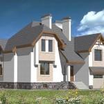 проект 1 готовый дом из керамзитоблока общий вид