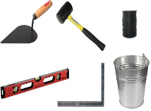 строительные инструменты для клаки керамзитоблоков