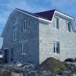 дом №2, построенный из полистиролбетонных блоков