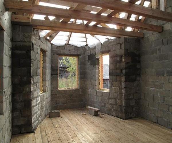 строительство дома из пескоблоков
