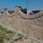 забор,построенный из бутового камня №1