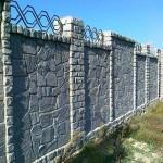 забор, построенный из бутового камня №5