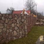 забор, построенный из бутового камня №7