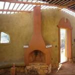 Каминная печь, сложенная из шамотного кирпича №1