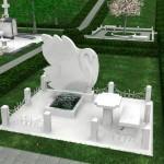 Памятник из белого мрамора №2