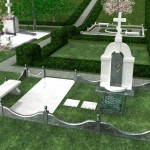 Памятник из белого мрамора №4