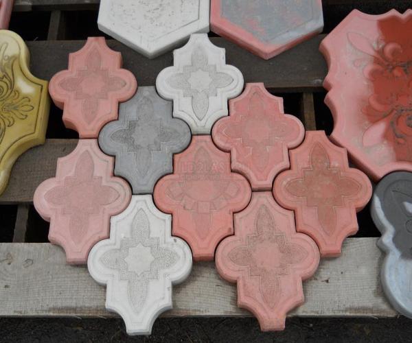 Фигурная бетонная брусчатка