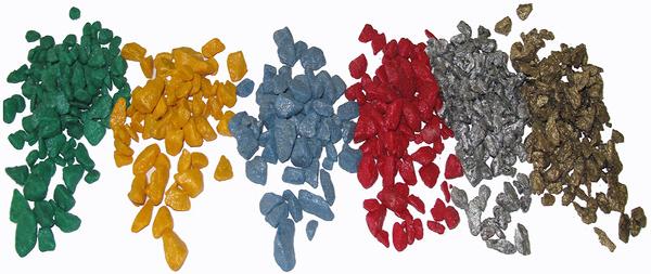 различные цвета декоративного щебня