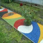 использование цветного щебня 2