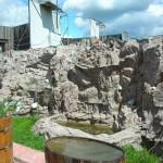 Декоративная стена, сделанная из водостойкого цемента