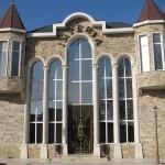 Облицовка фасада доломитом
