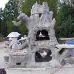 Скульптура сделана из цемента №5