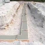 Заливка фундамента глиноземистым цементом