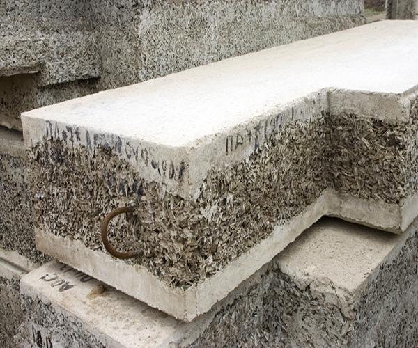 как выглядят блоки из опилок и цемента