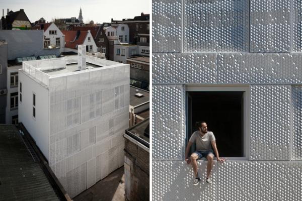 Амстердам - использование перфорированного фасада в многоквартирном доме