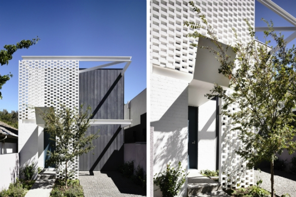 Дом с перфорированным фасадом в Мельбурне