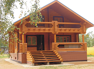 как выглядит дом из древесины