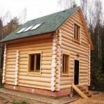 Баня из древесины осины