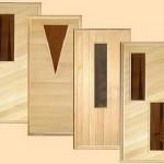 Образцы дверей для дома из осины