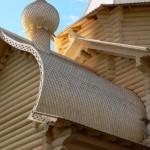 Декоративное украшение из осины