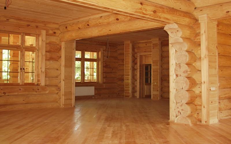 Интерьер рубленного дома