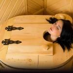 как следует размещаться в мини-бане из кедра