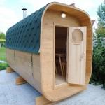 как выглядит мини-баня из кедра