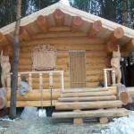 как выглядит баня из древесины лиственницы
