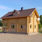 как выглядит дом из древесины лиственницы