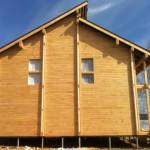 как выглядит дом из имитации бруса ангарской сосны