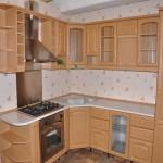 как выглядит кухня из древесины бука