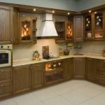как выглядит кухня из древесины ясеня
