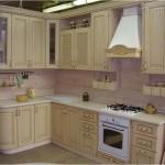 как выглядит кухня из светлого ясеня