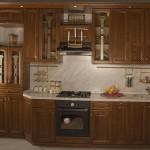 как выглядит кухня из темного ясеня